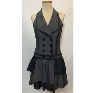 Bebe halter dress double breasted size 6 black
